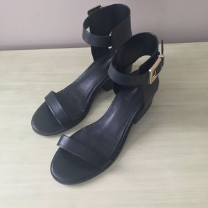 Mango Black Sandals with small heel